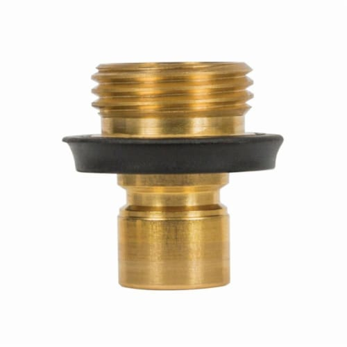 Gilmour Heavy Duty Brass Threaded Male Quick Connector - Case Of: 1; Perspective: front