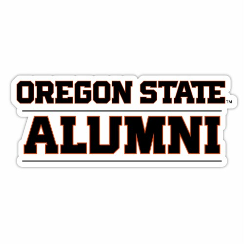 Oregon State Beavers 4-Inch Laser Cut Alumni Vinyl Decal Sticker 2-Pack Perspective: front