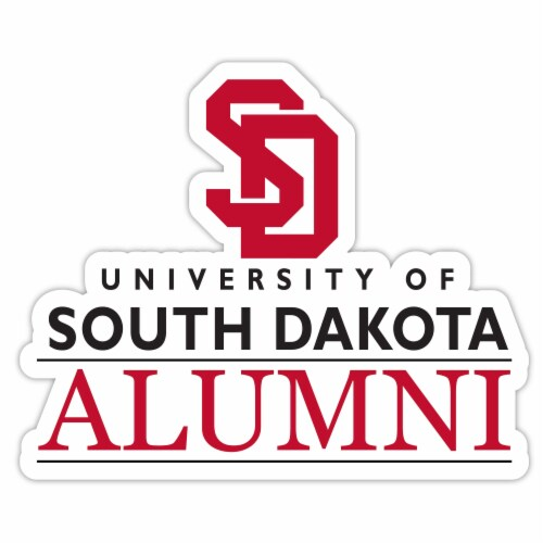 South Dakota Coyotes 4-Inch Laser Cut Alumni Vinyl Decal Sticker 2-Pack Perspective: front