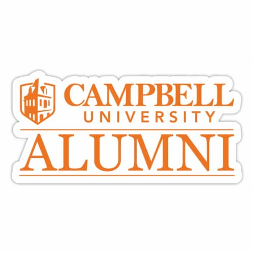 Campbell University Fighting Camels 4-Inch Laser Cut Alumni Vinyl Decal Sticker 2-Pack Perspective: front