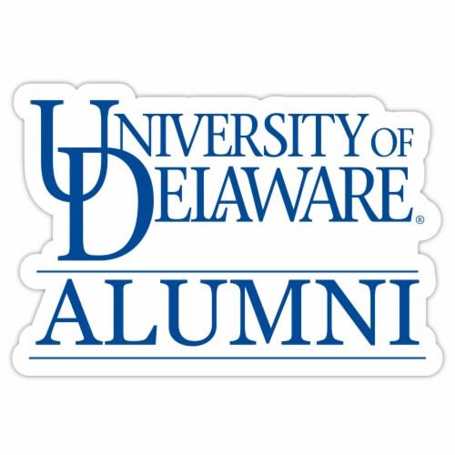 Delaware Blue Hens 4-Inch Laser Cut Alumni Vinyl Decal Sticker 2-Pack Perspective: front
