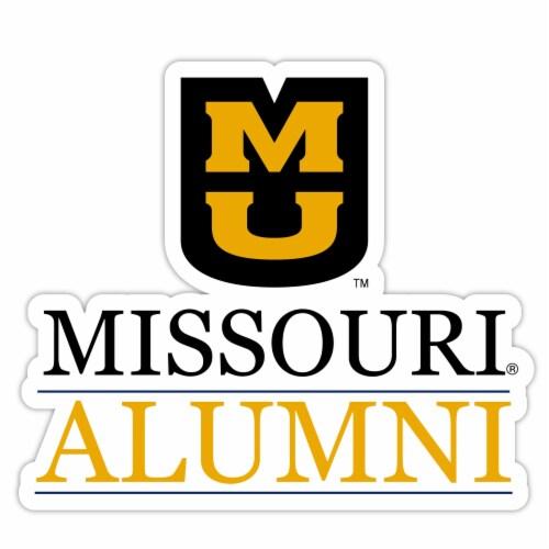 Missouri Tigers 4-Inch Laser Cut Alumni Vinyl Decal Sticker 2-Pack Perspective: front