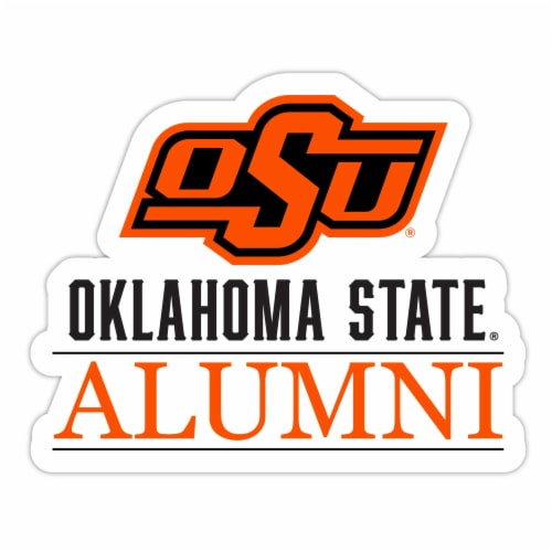 Oklahoma State Cowboys 4-Inch Laser Cut Alumni Vinyl Decal Sticker 2-Pack Perspective: front