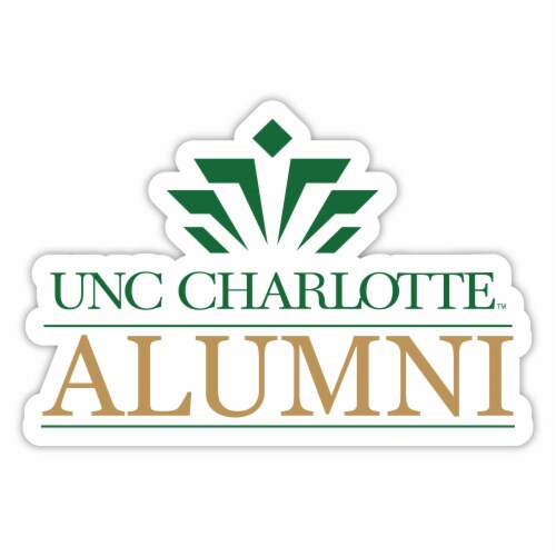 North Carolina Charlotte Forty-Niners 4-Inch Laser Cut Alumni Vinyl Decal Sticker 2-Pack Perspective: front