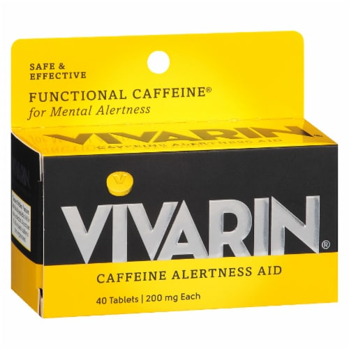 Vivarin 200mg Caffeine Tablets Perspective: front