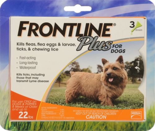 Frontline Plus Small Dogs Flea & Tick Perspective: front
