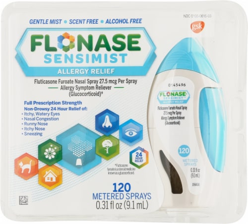 Flonase Sensimist Non-Drowsy 24-Hour Allergy Relief Nasal Spray Perspective: front