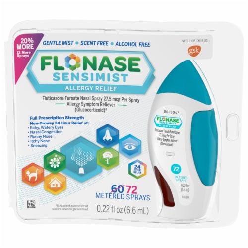 Flonase Sensimist 24 HR Allergy Relief Nasal Spray Perspective: front