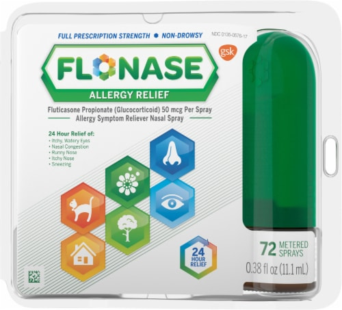 Flonase 24-Hour Allergy Relief Nasal Spray Perspective: front