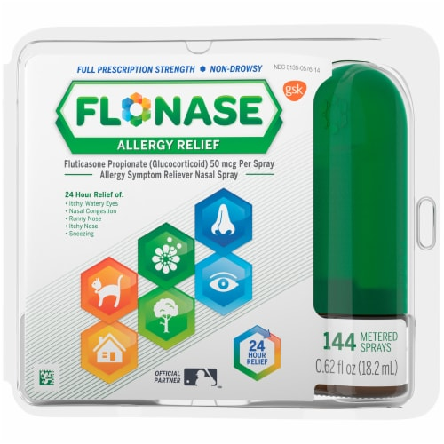Flonase Non-Drowsy 24-Hour Allergy Relief Nasal Spray Perspective: front