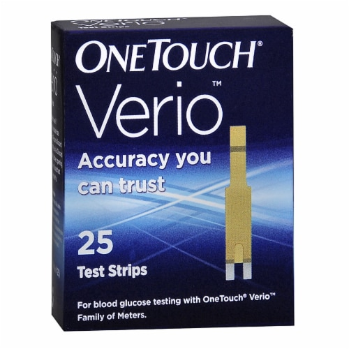 OneTouch Verio Blood Glucose Test Strips Perspective: front