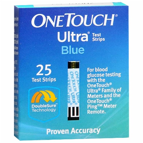 OneTouch Ultra Blood Glucose Test Strips Perspective: front