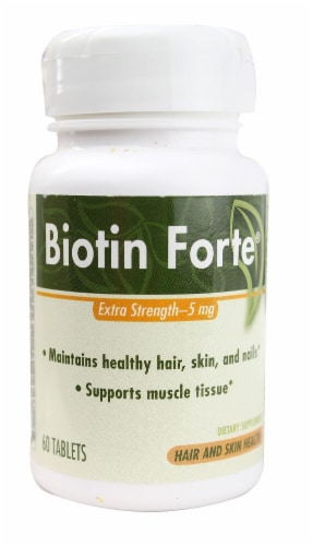 Enzymatic Therapy  Biotin Forte® Extra Strength Perspective: front