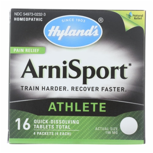 Hyland's ArniSport Homeopathic Pain Relief Tablets Perspective: front