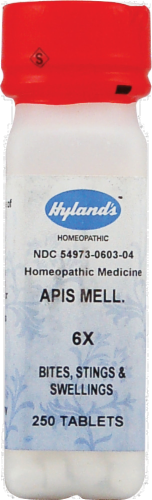 Hyland's Homeopathic Apis Mellifica 6X Bites Stings & Swellings Perspective: front