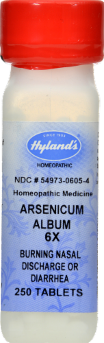 Hyland's Arsenicum Album 6x Burning Nasal Discharge or Diarrhea Tablets Perspective: front
