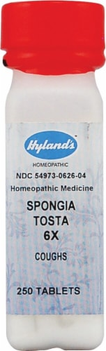 Hyland's  Spongia Tosta 6x Perspective: front