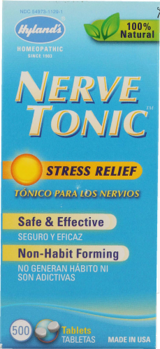 Hyland's Homeopathic Nerve Tonic Stress Relief Tablets Perspective: front