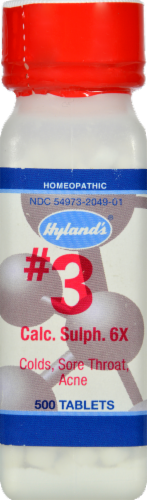 Hylands's Homeopathic Calcarea Sulphurica 6X Tablets Perspective: front