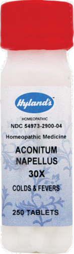 Hyland's Homeopathic Aconitum Napellus 30X Perspective: front