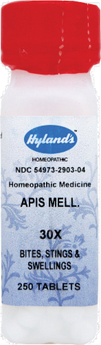 Hyland's Homeopathic Apis Mellifca 30x Bites Stings & Swelling Tablets Perspective: front