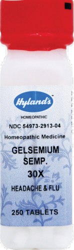 Hyland's Homeopathic Gelsemium Sempervrns 30X Tablets Perspective: front