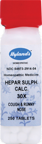 Hyland's Homeopathic Hepar Sulphuris Calcium 30X Tablets Perspective: front