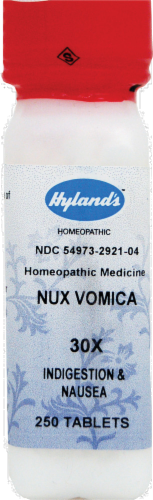Hyland's Homeopathic Nux Vomica 30x Nausea Headache or Flu Perspective: front