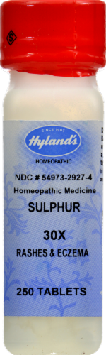 Hyland's Homeopathic Medicine Sulphur Tablets Perspective: front