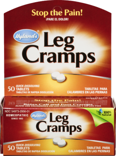 Hyland's Homeopathic Leg Cramps Tablets Perspective: front