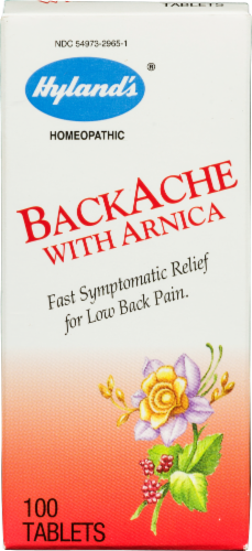 Hyland's Back Ache Relief Formula with Arnica Perspective: front