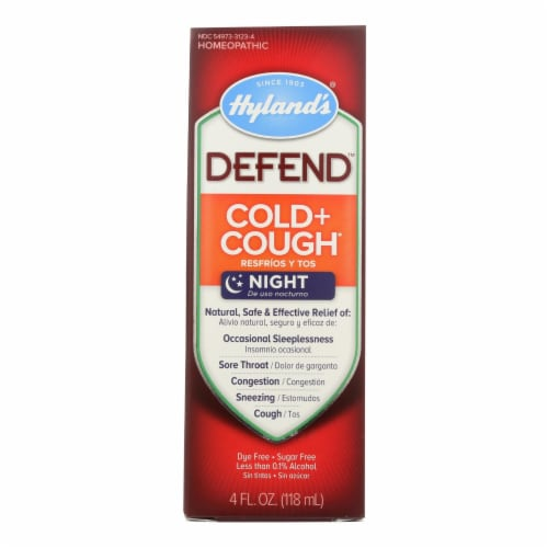 Hylands Homeopathic Defend - Cold and Cough - 4 Fl oz. - Pack of 3 Perspective: front