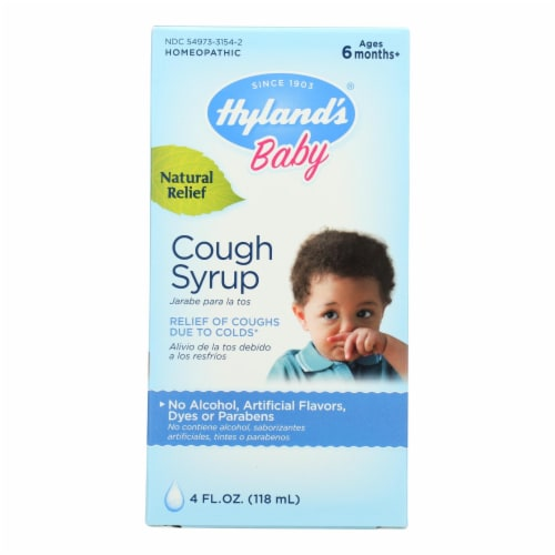 Hyland's Homeopathic Baby Cough Syrup Perspective: front
