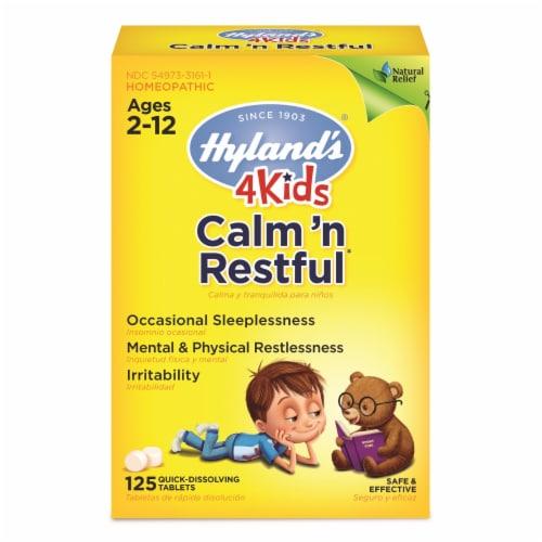 Hyland's 4 Kids Calm 'n Restful Sleep Supplement Tablets Perspective: front