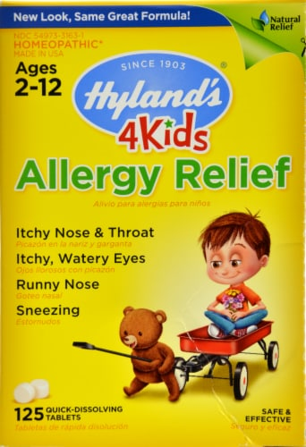 Hyland's 4 Kids Allergy Relief Tablets Perspective: front