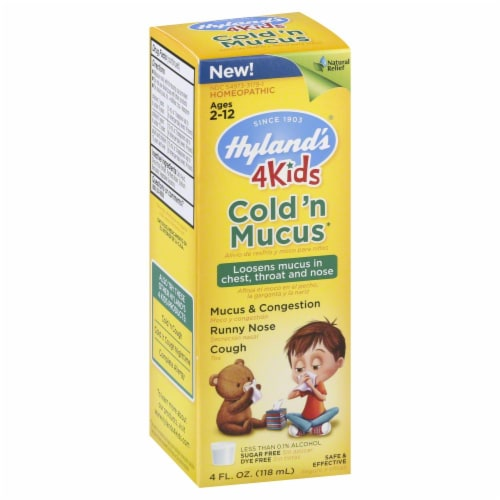 Hyland's Homeopathic 4Kids Cold & Mucus Perspective: front