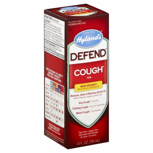 Hyland's Homeopathic Defend Non-Drowsy Cough Syrup Perspective: front