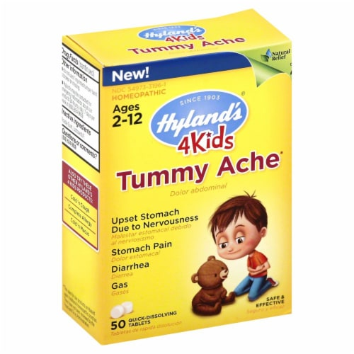 Hyland's 4Kids Homeopathic Tummy Ache Tablets Perspective: front