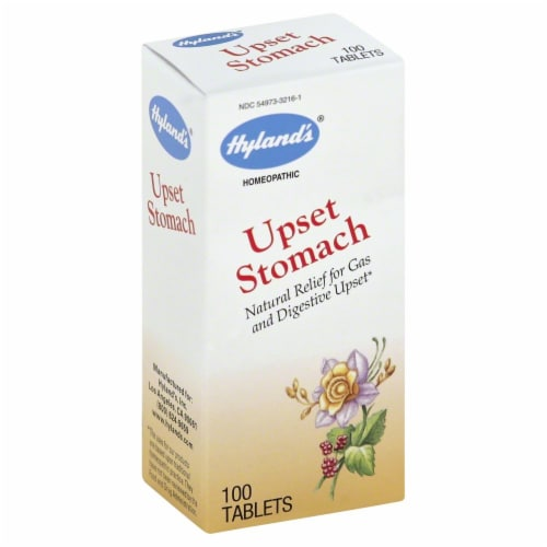 Hyland's Homeopathic Upset Stomach Tablets Perspective: front
