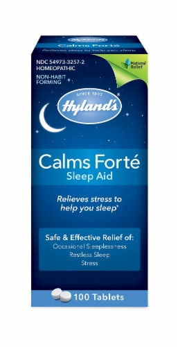 Hyland's Calms Forté Tabs Perspective: front