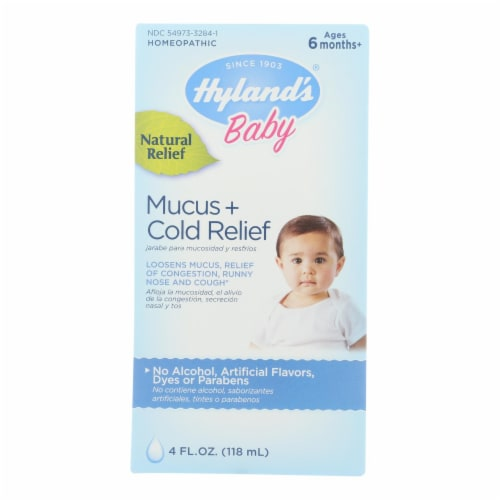 Hyland's Baby Mucus + Cold Relief Perspective: front