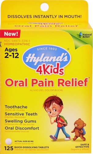 Hyland's 4 Kids Oral Pain Relief Perspective: front