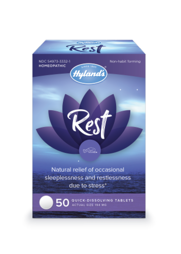 Hyland's Rest Quick-Dissolving Tablets 194 mg Perspective: front