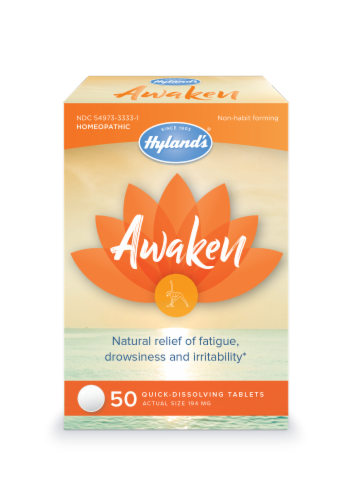 Hyland's Awaken Homeopathic Tablets 194mg Perspective: front
