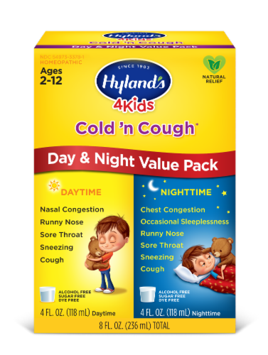 Hyland's 4 Kids Cold 'n Cough Daytime & Nighttime Value Pack Perspective: front