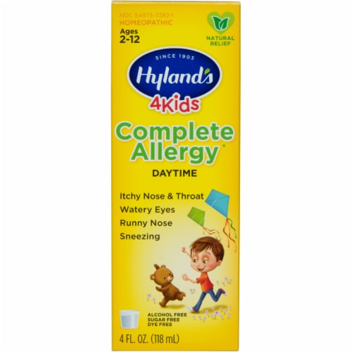 Hyland's 4 Kids Complete Allergy Daytime Natural Relief Perspective: front