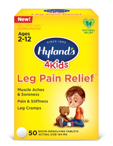 Hyland's 4 Kids Leg Pain Relief Tablets 194mg Perspective: front