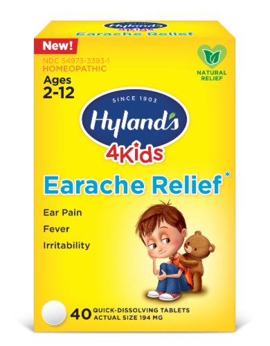 Hyland's 4 Kids Earache Relief Quick-Dissolving Tablets Perspective: front