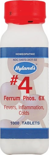 Hyland's  No.4 Ferrum Phos. 6x Perspective: front