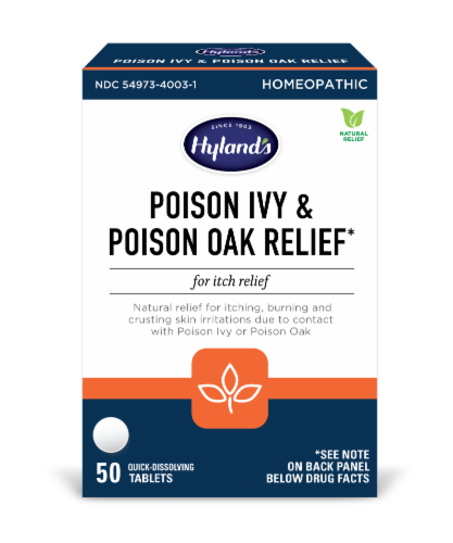 Hyland's Poison Ivy and Poison Oak Relief Tablets Perspective: front